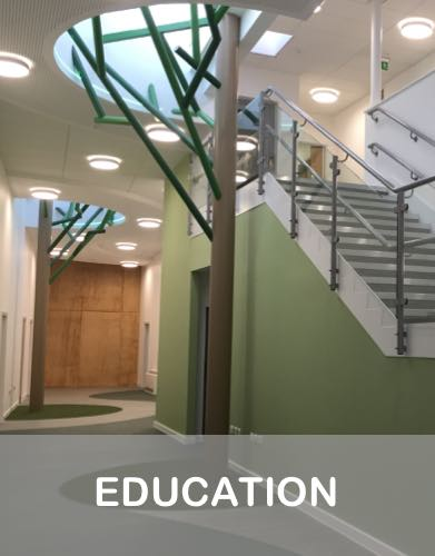 Recent electrical projects in the education sector by Wadys Electrical in Bedford