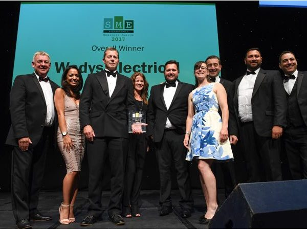 SME Awards 2017 Overall winner Wadys Electrical